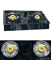 surya glass top gas stove 2 burner cooker protective cover