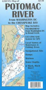 Upper Chesapeake Bay Chart Potomac River Chart Fishing Map By Gmco Maps Charts