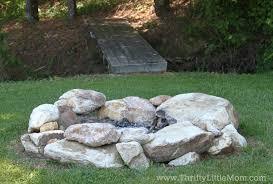 building a free backyard firepit
