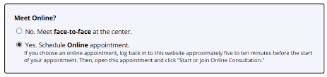MWC ONLINE APPOINTMENT GUIDE