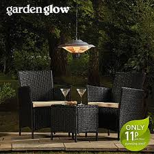 electric patio heater. Garden Glow 1500W Ceiling Mounted Heater With Two Settings Electric Patio
