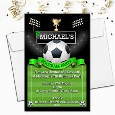 Design Party Invitations Personalised Football Birthday Party Invitations N108