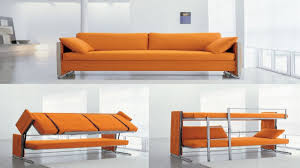modern living room design with convertible couch bunk beds and