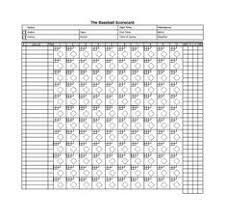Baseball Scoresheet Template 24 | Baseball Score Sheet | Pinterest ...