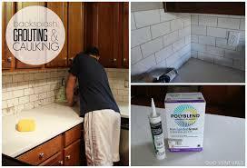 caulking kitchen backsplash. Kitchen Update: Grouting \u0026 Caulking Subway Tile Backsplash