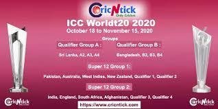 Icc Worldt20 Schedule Announced 2020 Cricntick Com