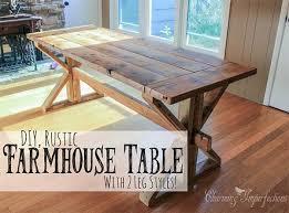 DIY Rustic Farmhouse Table. 2-leg-style-farmhouse-table-plans