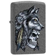<b>Зажигалка Zippo Wolf</b> Skull Feather <b>Design</b>, 29863 - 070.com.ua