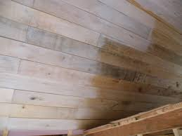 White Washed Wood Ceiling Heres A Picture Of The Difference Between The Unfinished Ceiling