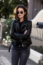 iro black leather jacket and jeans harperandharley