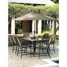 garden oasis harrison garden oasis i 7 piece sling high dining set sears garden oasis