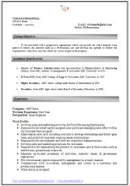 Resume Format Mba 1 Year Experience Resume Template Ideas