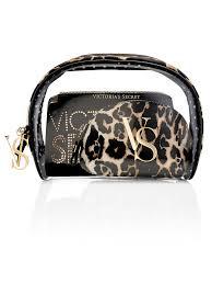 leopard cosmetic bag trio 36 includes 3 separate bags large bag 8 l x 3 1 4 w x 6 1 2 h um bag 7 1 4 l x 1 3 4 w x 4 1 2 h small bag 5 l x 2 1 4 w
