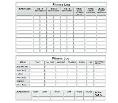 Work Out Journal Diet Workout Journal Com Free Printable Log Template Monster