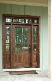 wood entry doors. Dark Stained Wooden Door With Sidelights Wood Entry Doors