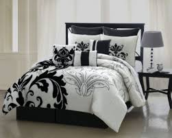 Bedroom: White And Black Bedspread   Black And White Comforter ... & Black and White Comforter   Black and White Comforter Sets   Solid Black  Comforter Set Adamdwight.com