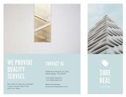 White Brochure Customize 78 Real Estate Brochure Templates Online Canva