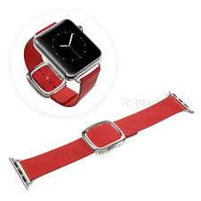 modern style genuine leather watch strap for apple watch series 4 44mm series 3
