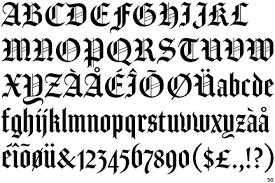 black letter font subordination to the tool designblog