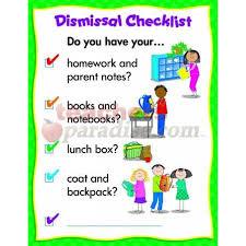Dismissal Chart Dismissal Checklist Chart
