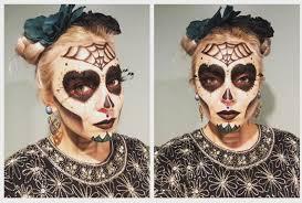 sugar skull makeup take