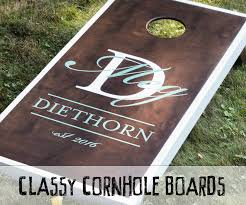 Cornhole Board Design Ideas How To Make Classy Cornhole Boards 9 Steps With Pictures