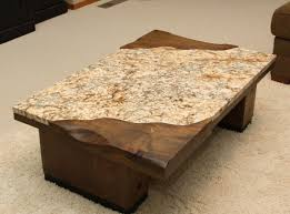 ... Coffee Table, Surprising Cream Rectangle Traditional Granite Coffee  Table Idea Which You Need To Planning ...
