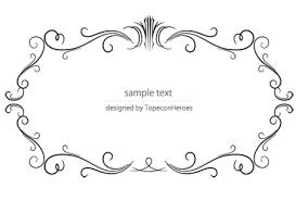 デザイン枠飾り罫素材専門サイトフレームデザインframes Design