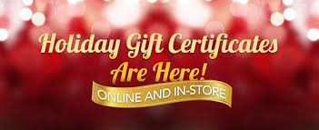 Holiday Gift Certificates Holiday Gift Certificates Are Here Give The Gift Of Peace