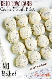 By holistic yum save pin print share Keto Chocolate Chip Cookie Dough Fat Bombs Only 1 Net Carb
