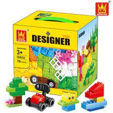 BỘ LEGO XẾP HÌNH WANGE 72 Cái Size Lớn Gạch Bộ Thành Phố TỰ LÀM Khối Sáng  Tạo Giáo Dục Khối Xây Dựng Đồ Chơi dành cho Trẻ Em Tương Thích Với