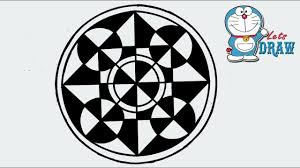Draw A Design How To Draw A Design Of Circle Square And Triangle Step By