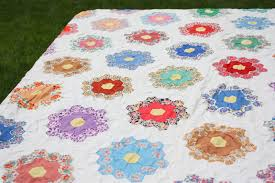 Antique Grandmother's Flower Garden Quilt & The Grandmother of Hexagon Quilts Adamdwight.com
