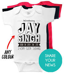 Printed Birth Announcement Birth Announcement Onesie Custom Printed Baby Clothing For Special