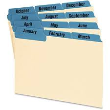 Tabbed Index Cards 4x6 Amazon Com Oxford 04613 Laminated Tab Index Card Guides Monthly