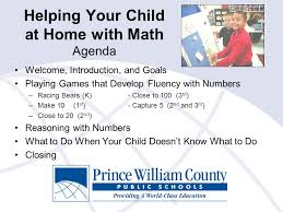 helping your child at home math agenda welcome introduction 1 helping