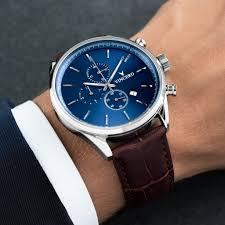 blue strap watch