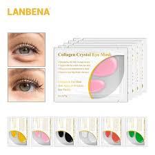 CB04 1Pair <b>LANBENA 24K Gold Eye</b> Mask Collagen (Assorted Color)