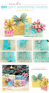 cutting edge stencils shares how to make custom gift wrapping paper using the otomi craft stencil