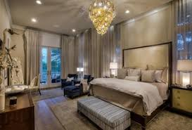 transitional master bedroom. Transitional Master Bedroom With Crown Molding, Carpet, High Ceiling, Hardwood Floors, Pendant N
