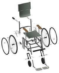 Planos de silla de ruedas planos con medidas y descipciones detalladas de cómo hacer un