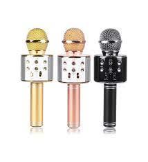 Karaoke Mikrofon Bluetooth Hoparlör BÜYÜK PİL + FM RADYO