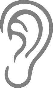 フリーイラスト シンプルな耳 パブリックドメインq著作権フリー画像