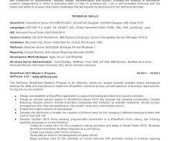 Sharepoint Developer Resume Simple ♬ 40 Sharepoint Developer Resume