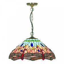 finish and hand made dragonfly tiffany glass diffuser the elegant finish is timeless adding a touch of class to any ceiling and the lighting effects