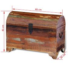 vidaXL <b>Solid</b> Wood <b>Storage Box Reclaimed</b> Material Vintage Style ...