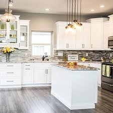 white kitchen. Key Largo White Kitchen Cabinets H