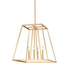 conant 4 light gilded satin brass chandelier