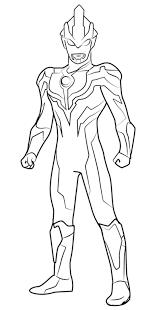 epic ultraman ginga coloring sheet