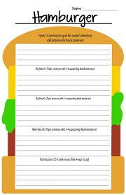 5 Paragraph Essay Template 4th Grade Free Hamburger Writing Template Homeschool Giveaways